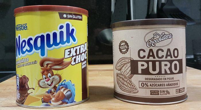 Cacao puro contra Nesquick