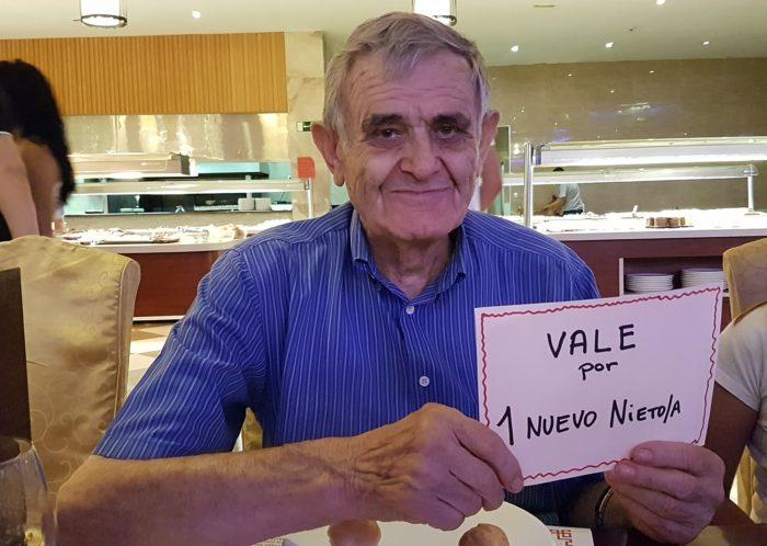 Alberto Sampietro Garcés en su cumpleaños