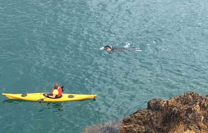 Yo nadando en Begur